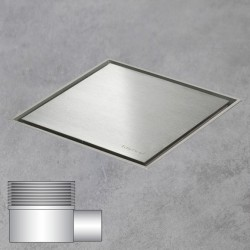 Sprchový nerezový žlab - square ice